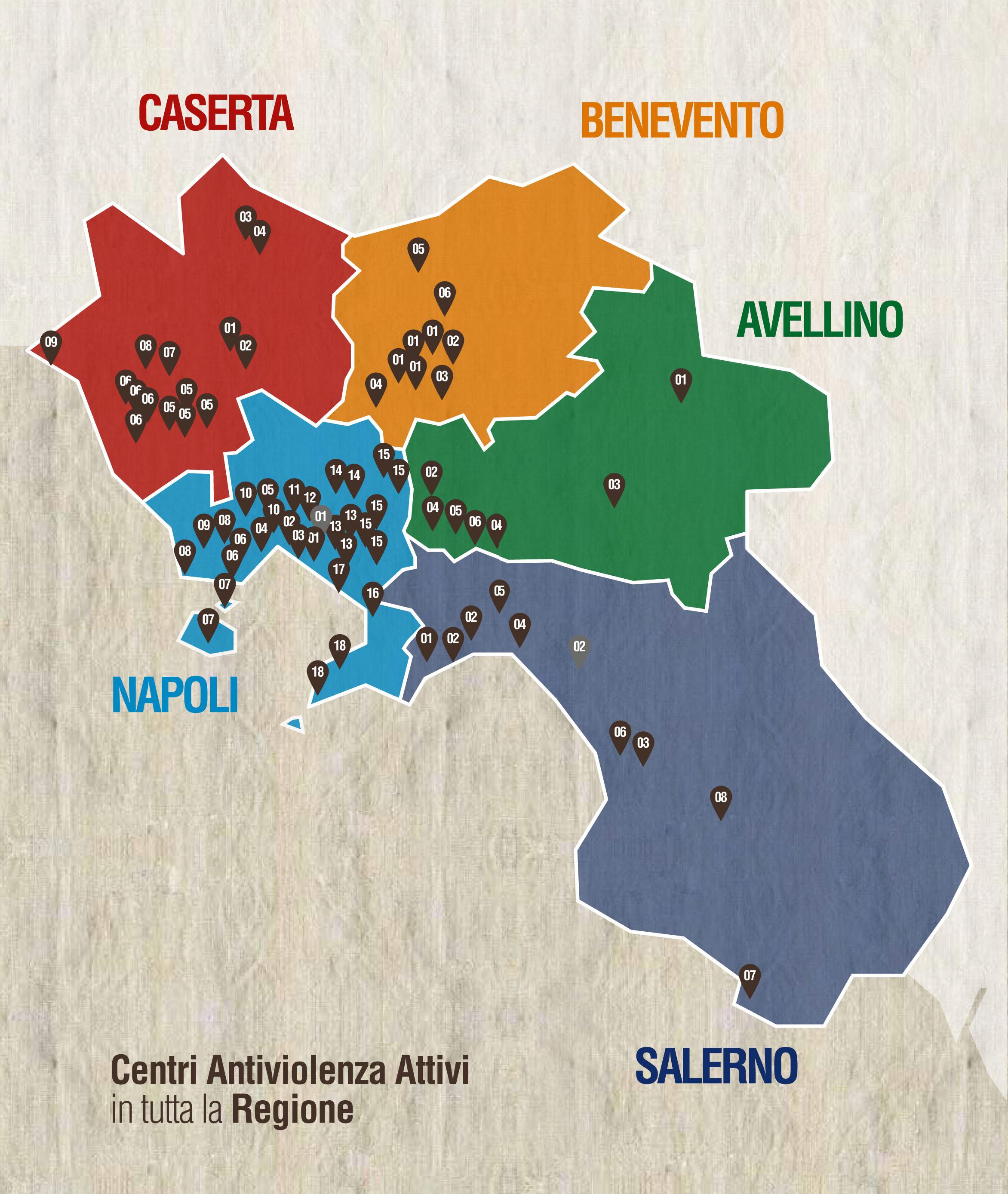 Cartina Fisica Della Regione Campania.Cav In Campania Trova Il Centro Antiviolenza Vicino A Te Psicamp It